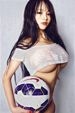 [SW포토] 안젤라리, 축구협회도 반했다…대륙의 섹시 화보란 이런 것