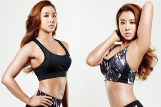 피트니스 모델 홍주연, 탄탄한 몸매