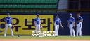 [SW포토] 야구국가대표 외야수 훈련