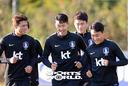 [SW포토]웃음꽃 피는 축구대표팀