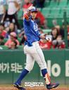 [SW포토] 삼성 박해민, 역전 안타 세리머니