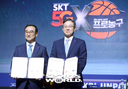 [SW포토]2018~2019 SKT 5GX 프로농구 조인식'