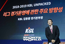 [SW포토]프리젠테이션하는 KBL 김동광 경기본부장