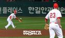 [SW포토]SK 유격수 김성현,'나이스 캐치'
