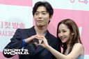 [SW포토] 김재욱-박민영, 사랑의 하~트