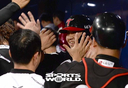 [SW포토]득점하며 축하받는 LG 김민성