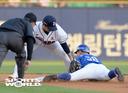 [SW포토] 삼성 박해민, 2루안착