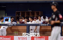 [SW포토]김규민,'상대 폭투로 동점 득점'