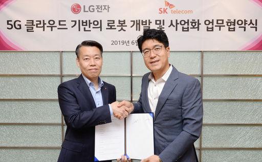 LG전자-SK텔레콤, 5G-로봇 융복합기술 공동개발