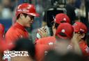 [SW포토] 2점 홈런 축하받는 KIA 김주찬