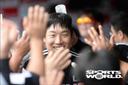[SW포토] 김현수, 5-6 추격하는 솔로 홈런