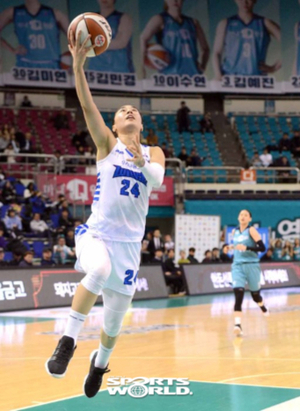 [SW포토]김소니아,'노마크 레이업슛'
