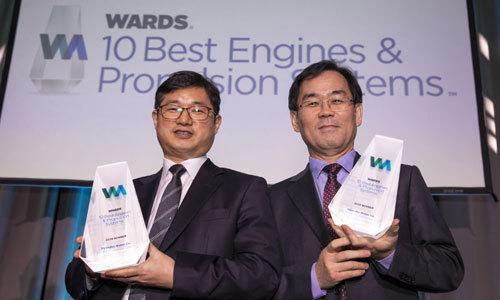 현대차 2종, 워즈오토 '최고 10대 엔진' 수상