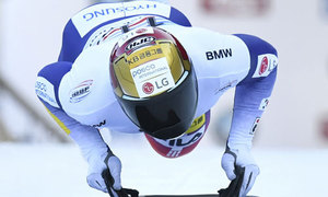 윤성빈, 월드컵 5차 대회서 '3연속 메달'