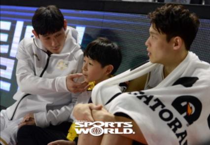 [SW포토] 양동근, 아들과 함께 덩크슛