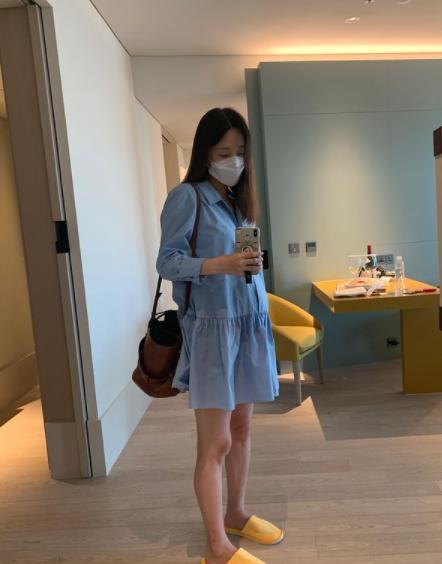 """'임신 7개월' 이지혜, 극한 스케줄 소화하더니 병원행…""""배가 무겁다"""" [스타★샷]"""